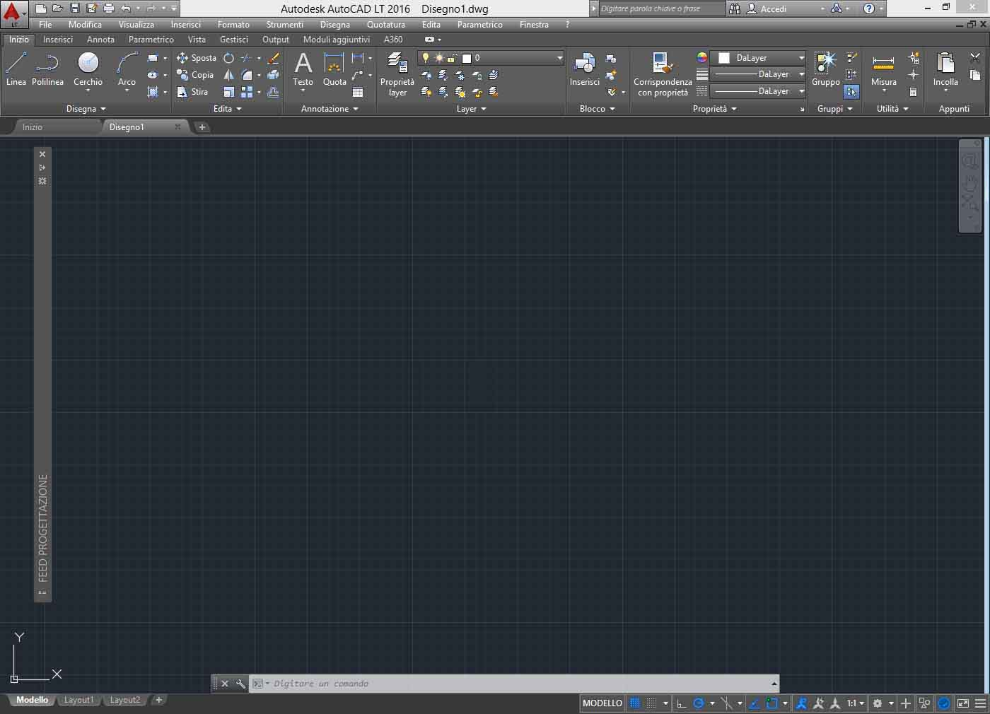 autocad lt 2016 drafting workspace