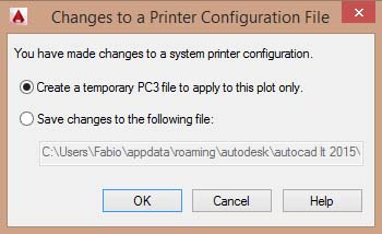 printer settings config
